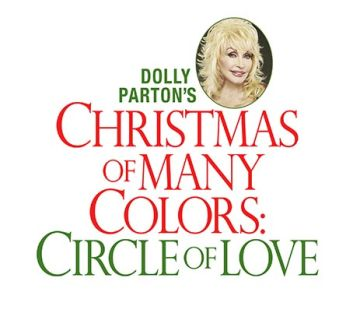 Dolly Parton x-mas of many colors circle 350
